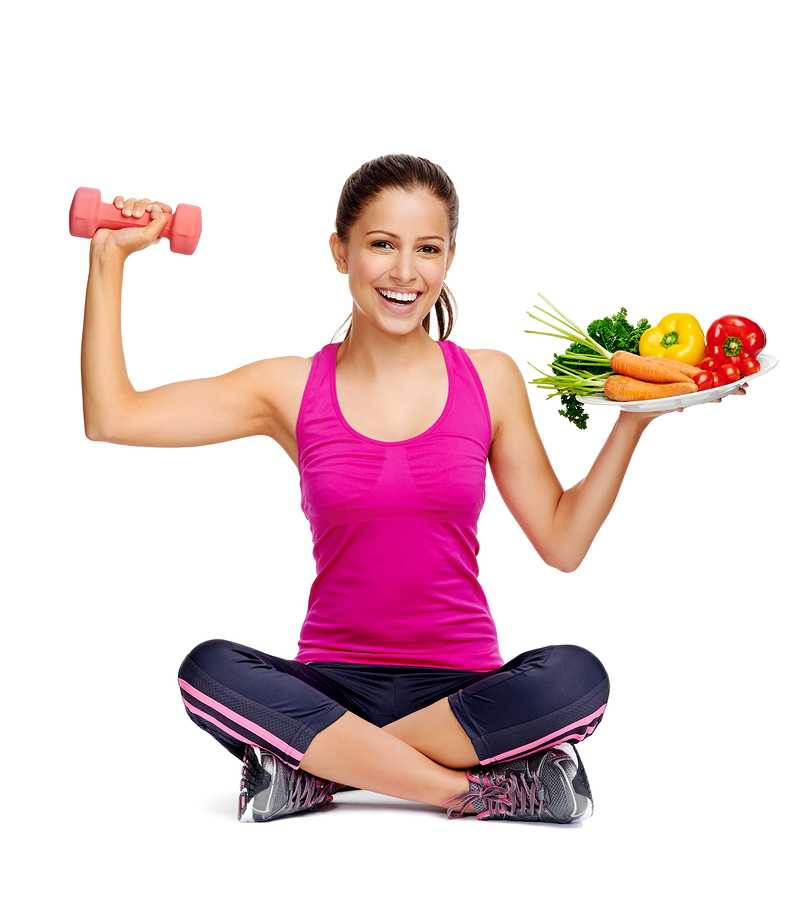 healthy eating nutrition and excerising