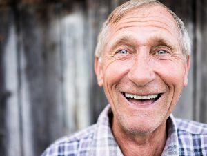 Happy smiling elder senior man